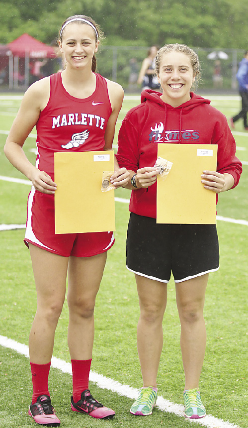 Marlette's Emily Schaub took 5th in the 100 Hurdles and Sandusky's Katrina Tovar, 7th.