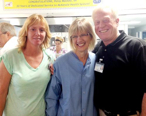 (L-R): Patricia Schafsnitz, Patsy Mausolf and Steve Barnett.
