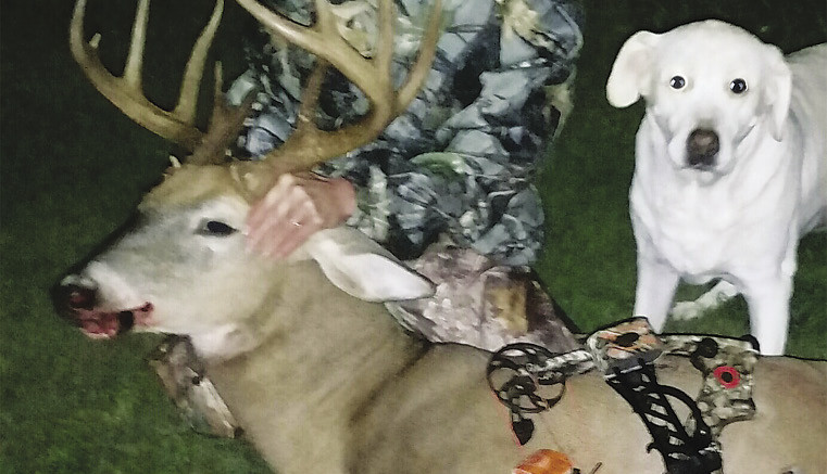 Tri-County Bank Branch Manager, Terri Hendershot bagged this 11 pt. buck.