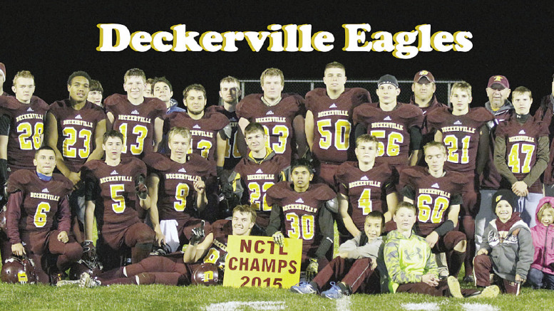 The Deckerville Eagles clinched the NCTL League with their win over Dryden on Friday night. The Eagles finished their regular season 8-1.