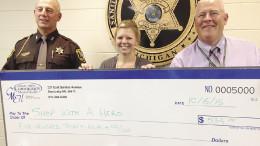 (L-R): Sheriff Garry Biniecki, Amanda Wojcik and Jim Johnson.