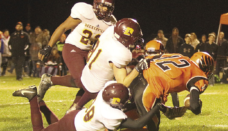 The Deckerville Eagles toppled Morrice at Morrice's home field last Friday.