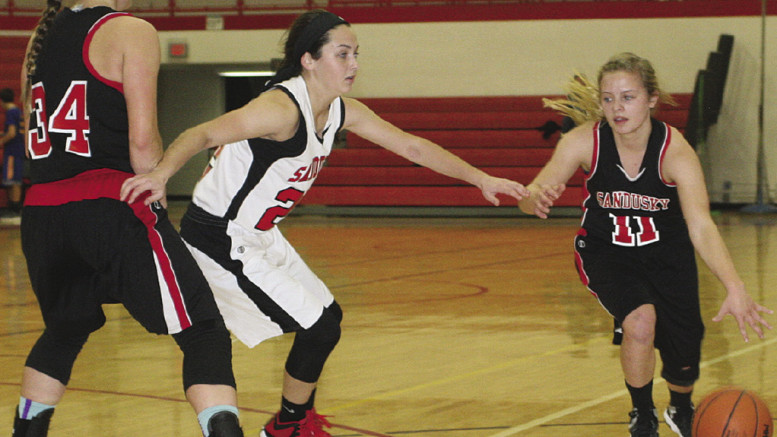 The Sandusky Varsity girls showed off their skills at the second annual family team night.