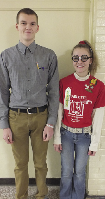 Ryan Zawodny and Jenny Newland show off their nerdy sides.
